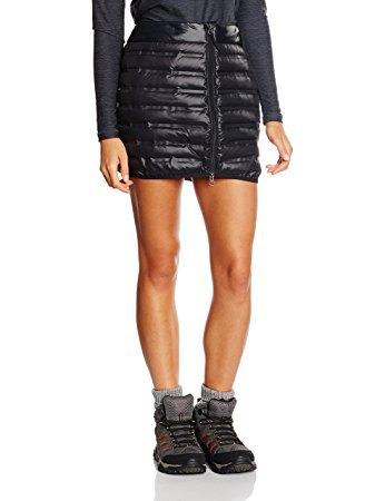 black down skirt with dark gray long sleeve tee