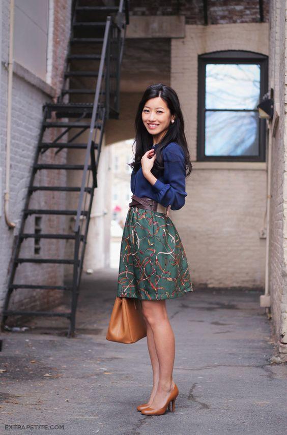 elastic waist skirt printed