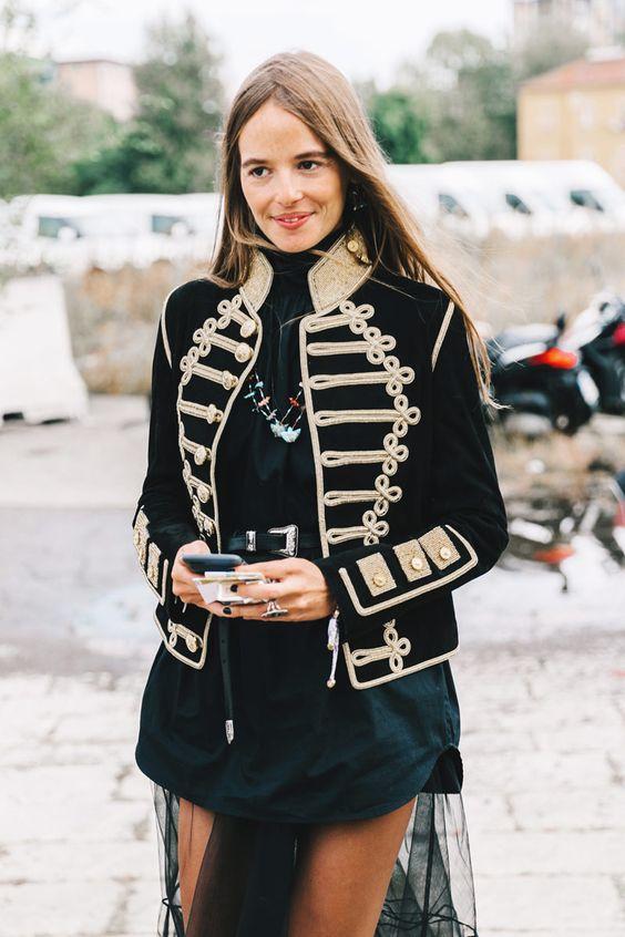 military jacket tulle