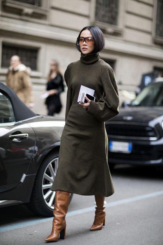sweater dress olive