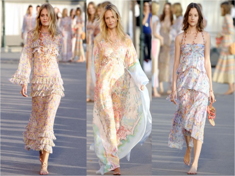 chanel-pastel printed silk dresses