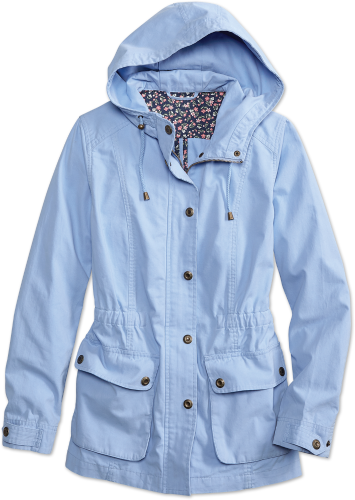 Womens Anorak Jacket - Washed Cotton Twill Jack