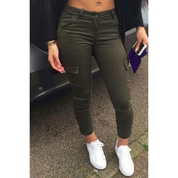 Olive Green Pants For Women | Pant