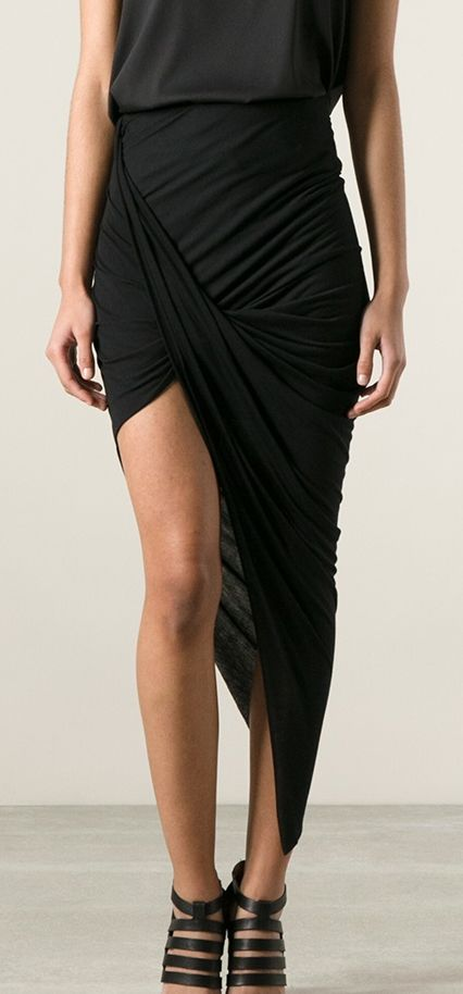 Asymmetrical drape skirt | Fashion, Style, Venus fashi