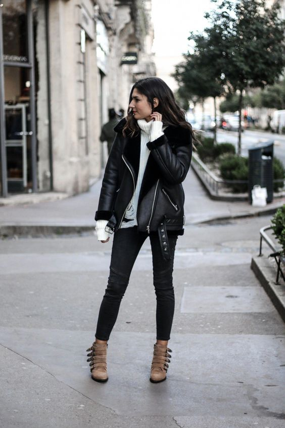 15 Edgy Outfits With Shearling Aviator Coats - Styleohol