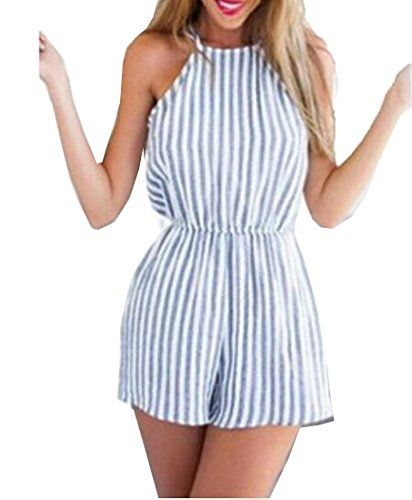 Simple Gifts Ideas for Women | Backless playsuit, Striped playsuit .