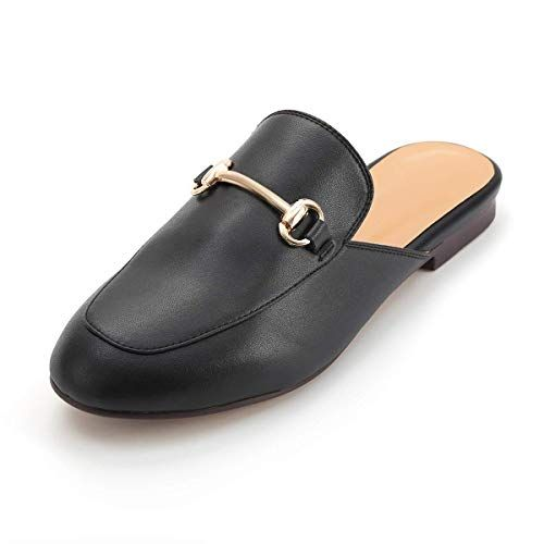 LaRosa Womens Leather Oxford Backless Slipper Slip-ONS Loafer .