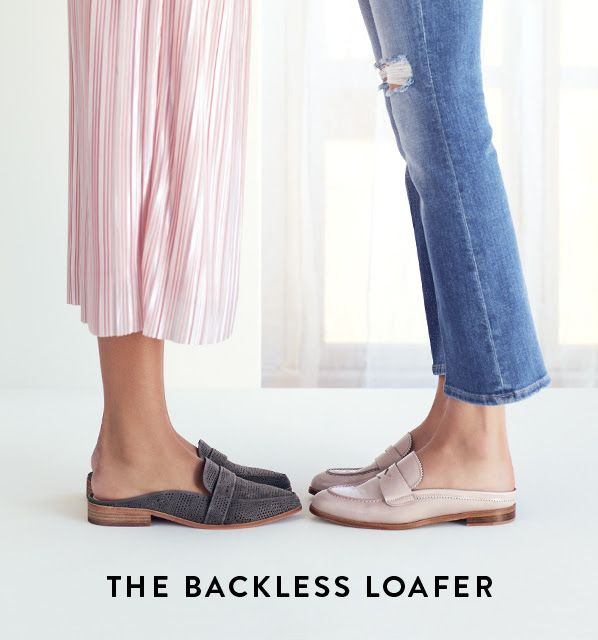 Obsessed with backless loafers! Fashion ideas / style / spring .