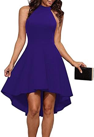 Amazon.com: Sarin Mathews Womens Halter Neck High Low Dresses Sexy .