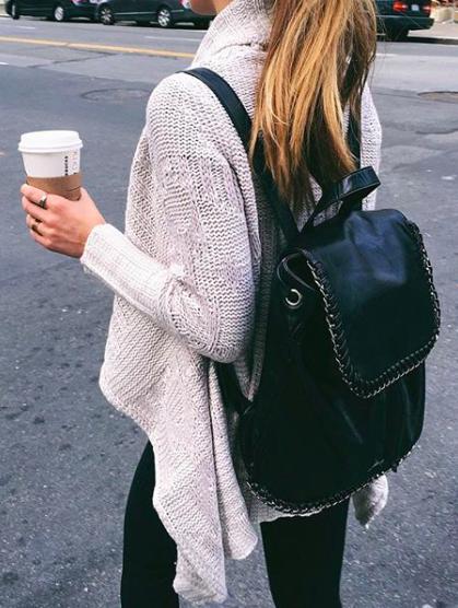 Pinterest @esib123 black leather backpack. can anyone please name .