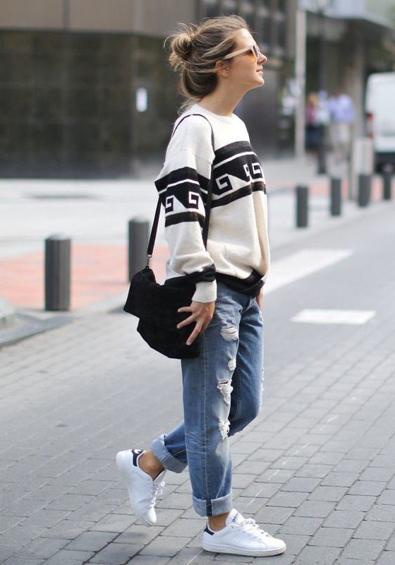 How to Style Baggy Boyfriend Jeans: Best 13 Cool Outfit Ideas for .