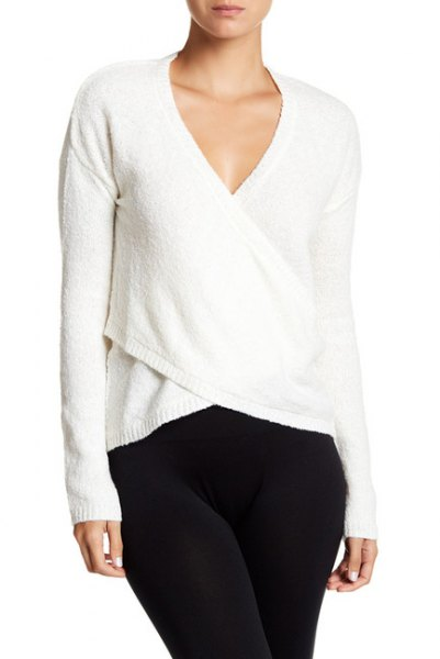 How to Wear Ballet Wrap Sweater: Top 16 Outfit Ideas - FMag.c