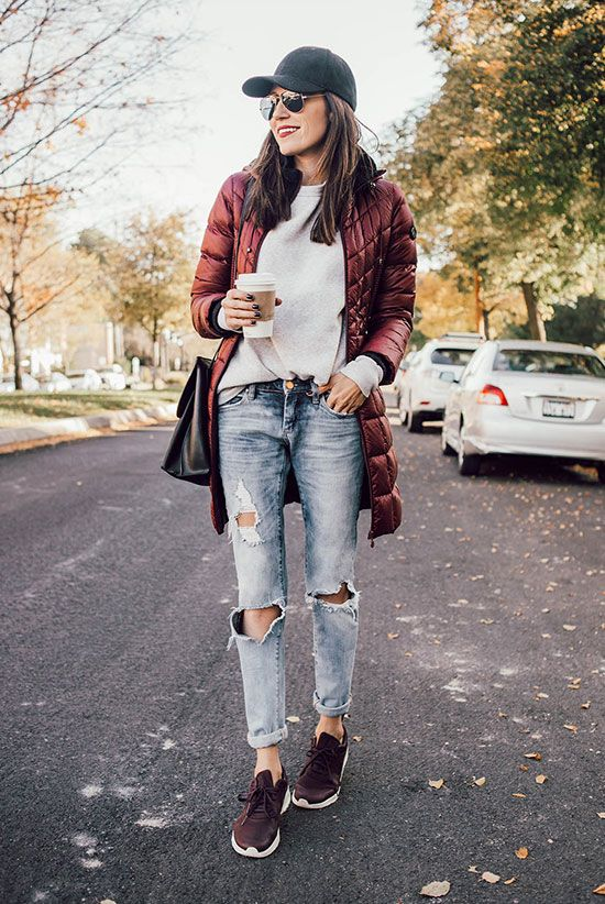 The Best Outfit Ideas Of The Week | Fashion, Burgundy sneakers .