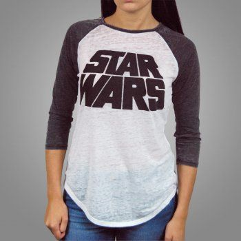 Freeze Womens Star Wars Logo Baseball Raglan T Shirt White in 2020 .