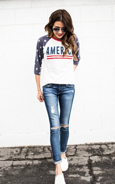 How to Wear Baseball T Shirt: 15 Outfit Ideas for Women - FMag.c