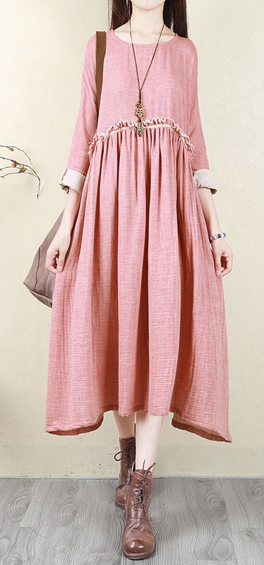 Women pink cotton quilting clothes Fashion Neckline o neck Batwing .