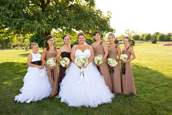 Erica and her bridesmaids! Beautiful Mori Lee wedding gown and .