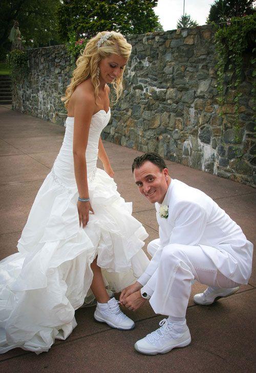 Jordan Themed Wedding | Wedding sneakers, Wedding dresses, Weddi