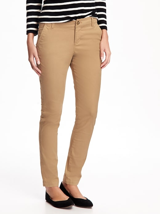 Mid-Rise Skinny Everyday Khakis For Women in 2020 | Navy pants .