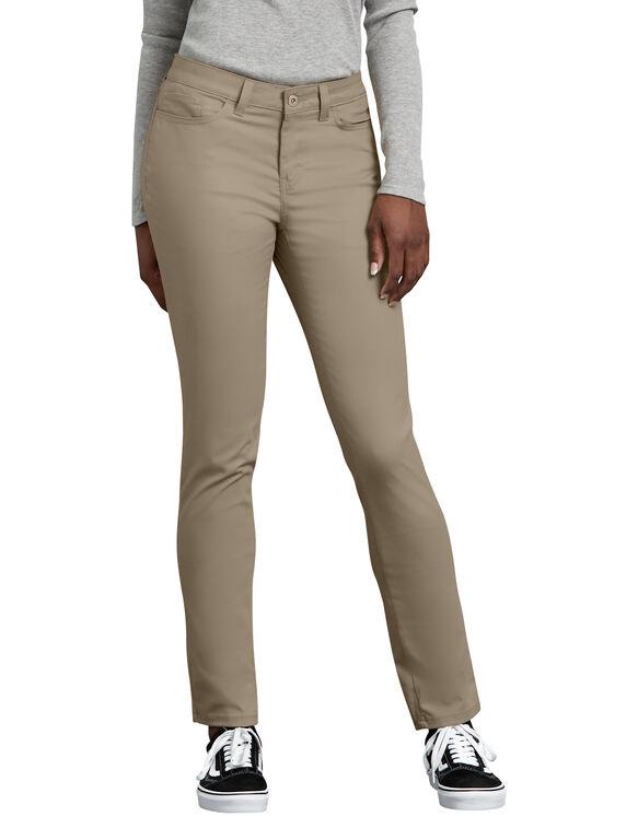 Women's Slim Fit Skinny Leg 5-Pocket Stretch Twill Pants | Women's .