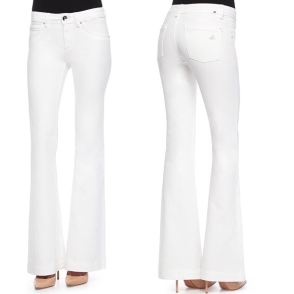 DL1961 Jeans | White Womens Flare Bell Bottom | Poshma