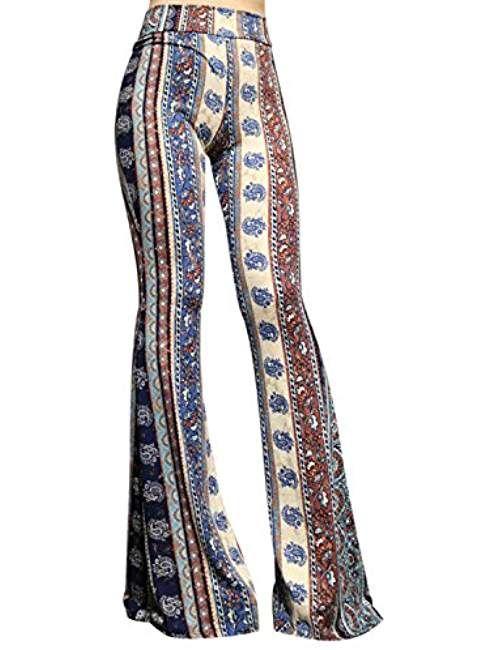 SMT Women's High Waist Wide Leg Long Palazzo Bell Bottom Yoga .