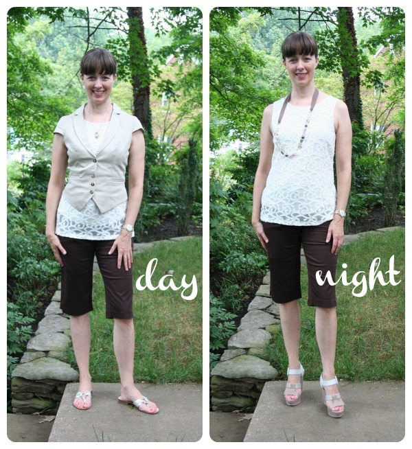 Working mom outfits of the week: Day to night Bermuda shorts and .