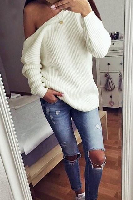 41 Cheap Big,Oversized,Chunky Sweater Outfit Ideas For Fall and .