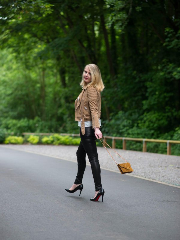 How to Style Biker Pants: Best 15 Cool & Dark Outfit Ideas for .