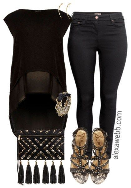 Plus Size Black & Gold Outfit | Black, gold outfit, Fashion, Plus .