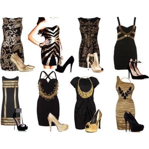 Black gold dresses | Gold, black dress, Glam dresses, Fashion we