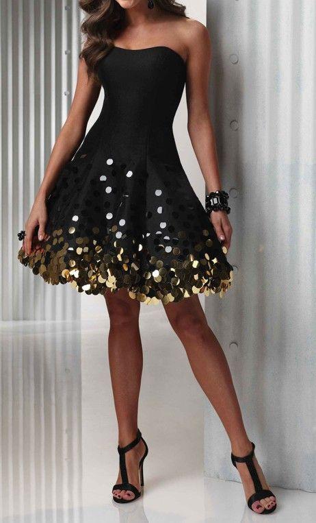 Sparkle party dress | Classy dress, Black evening dresses .