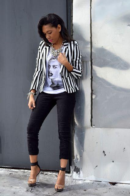 Black and White Blazer | Ropa de moda, Ropa, Moda esti