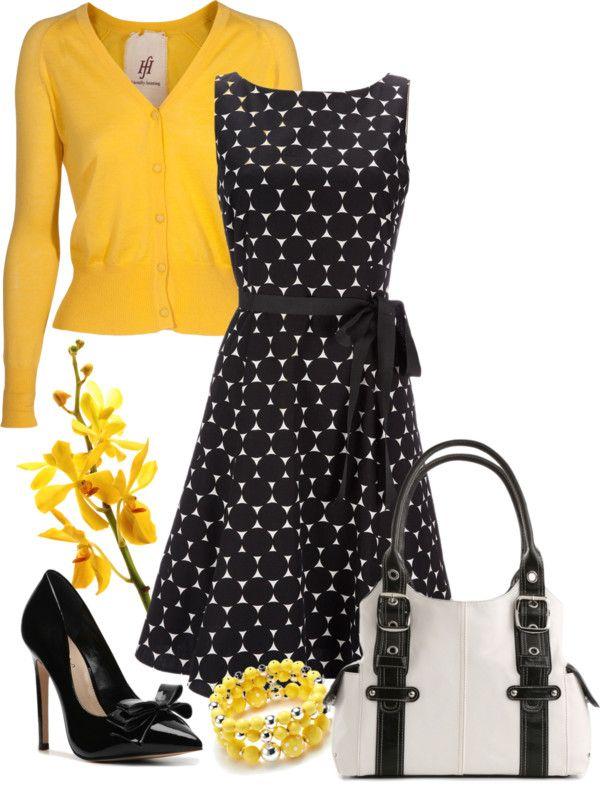Black & white polka dot dress | Fashion, White polka dot dress, Sty