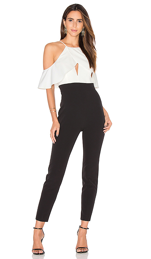 Bardot Marlee Jumpsuit in Black & White | REVOL