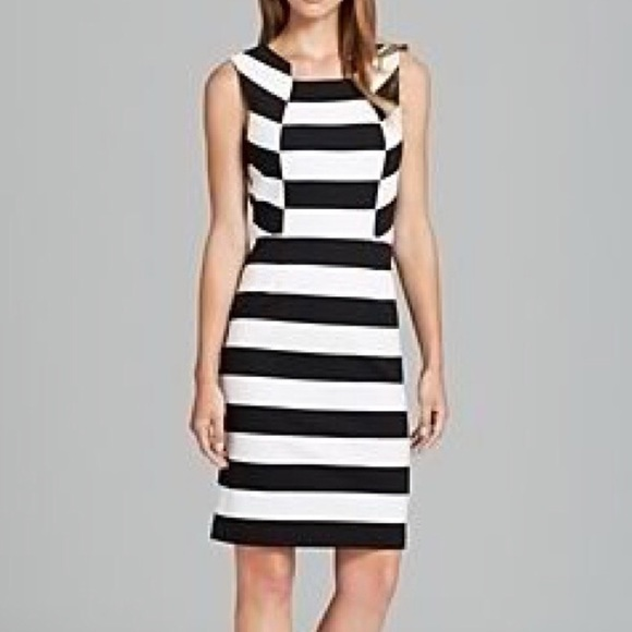 Trina Turk Dresses | Marsha Black White Striped Dress | Poshma