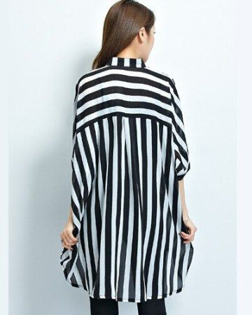 Black and White Striped Shirt Womens | Striped shirt women .
