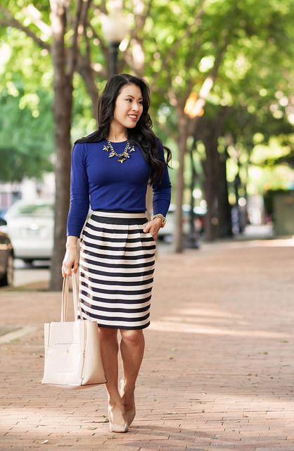 Pink, Navy, Stripes // Color Brigade Link-Up | Fashion, Style .