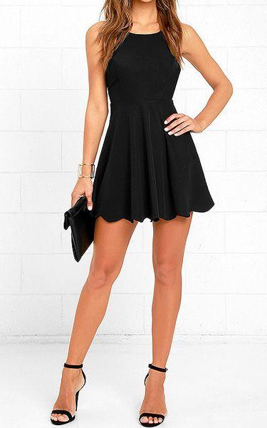 Play On Curves Black Backless Dress via @bestchicfashion | Black .