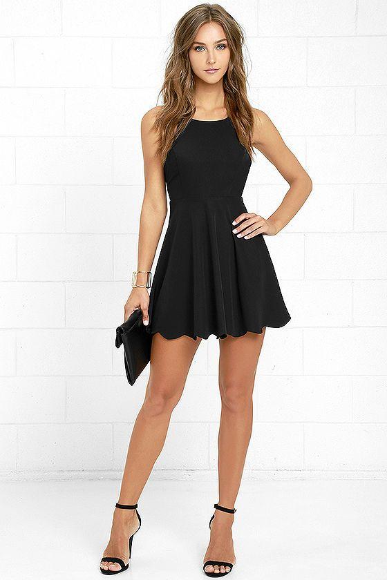 Play On Curves Black Backless Dress | Cute dresses, Short dresses .