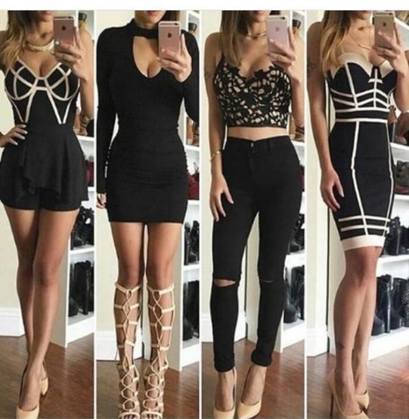 dress, black dress, summer dress, little black dress, bodycon .