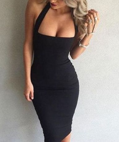 26 Cheap Dress Outfit Ideas You Have to Try | Halter bodycon dress .