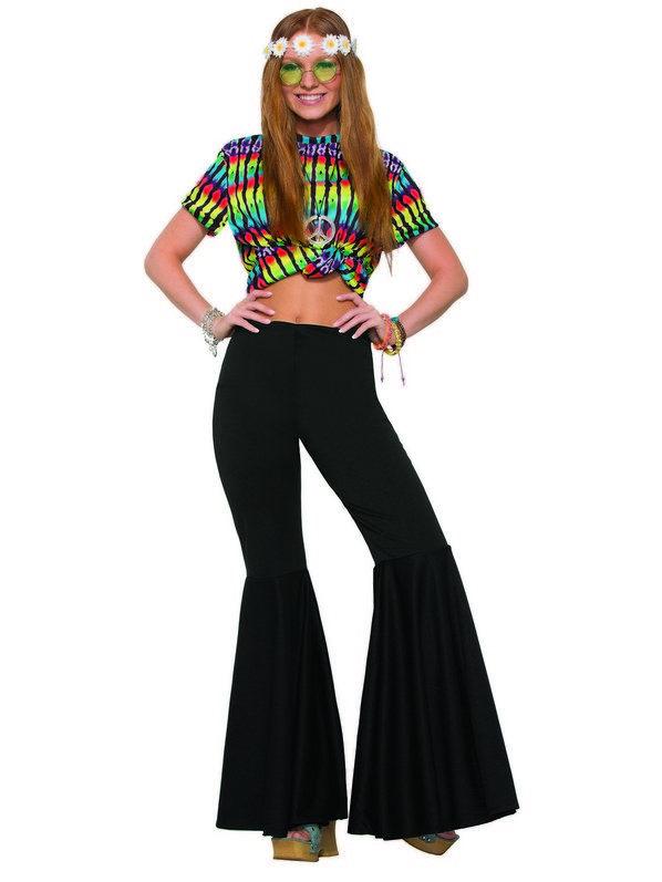 Ladies Black Bell Bottom Pants | Decades Costume Ideas in 2019 .
