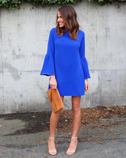 Just Believe Bell Sleeve Dress - Royal Blue (con imágenes .