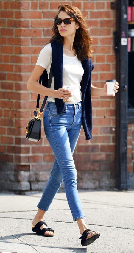 Celebrities Wearing Birkenstocks | Alexa chung style, Fashion .