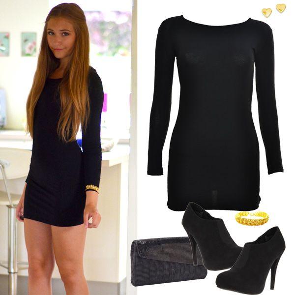 Black Bodycon Dress Outfit | Black bodycon dress outfit, Black .