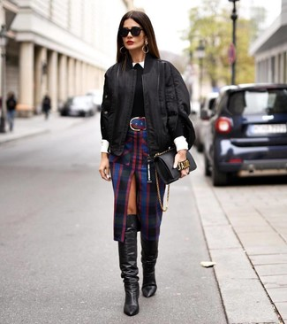 How to Wear a Black Bomber Jacket For Women (187 looks & outfits .