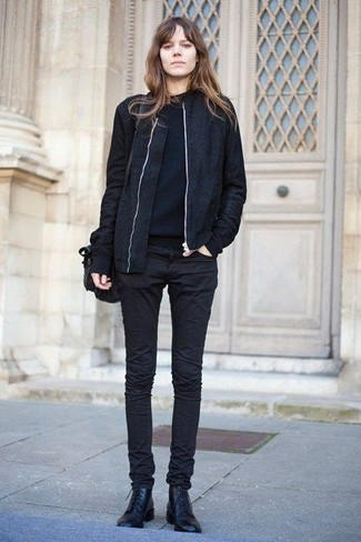 Which Lace-up Flat Boots To Wear With a Black Bomber Jacket .