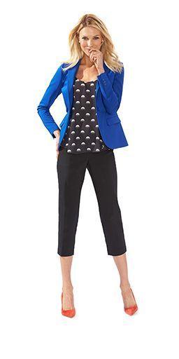 Top 25 ideas about Black Capri Outfits on Pinterest | Crop pants .