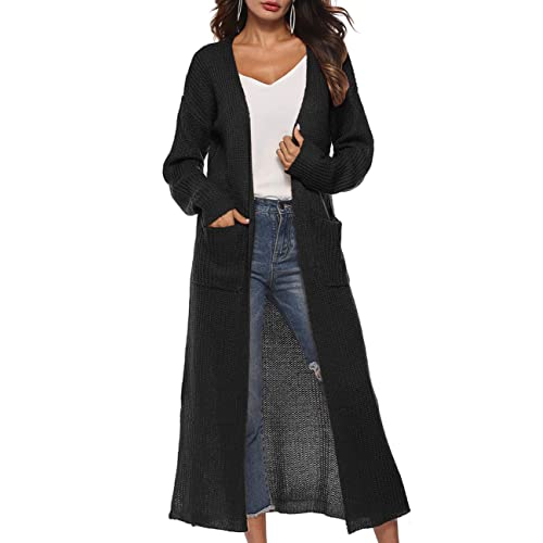 Dress Long Black Cardigan: Amazon.c